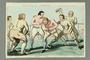 Gillray print of Jewish boxer Mendoza winning 1st match with Ward