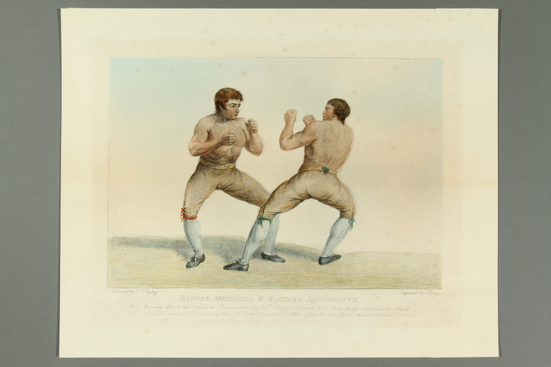 2016.184.160 front Etching of 3rd match, Jewish boxer Mendoza v Humphreys
