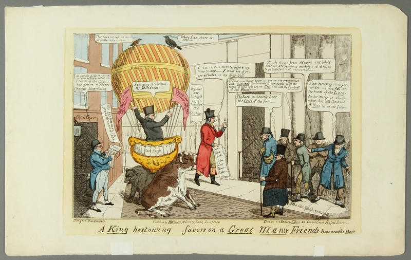 2016.184.163 front Satirical print of Rothschild's lack of charity to other Jews