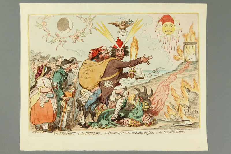 2016.184.165 front Gillray print of the founder of the British Israel movement