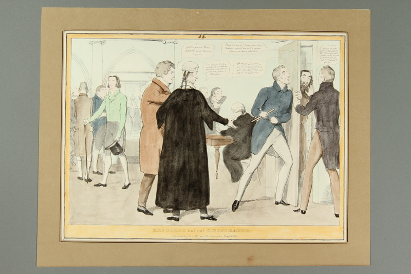 2016.184.169 front Satirical print of a Jew trying to enter Parliament