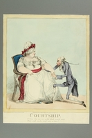 2016.184.170 front Print of a very thin Jew wooing a very fat lady  Click to enlarge