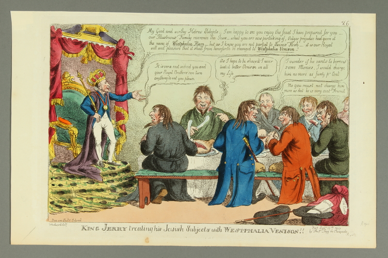 2016.184.174 front Satiric print about the emancipation of the Jews of Westphalia by King Jerome