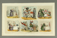 2016.184.177 front Print with 6 vignettes of a monk, a soldier, and a Jew  Click to enlarge