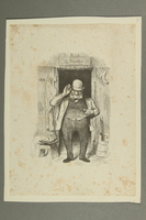 2016.184.180 front Woodcut of a Jewish peddler in front of a shack  Click to enlarge