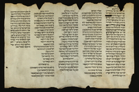 2016.184.184 front Damaged scroll describing an anti-Jewish pogrom and memorializing those killed  Click to enlarge