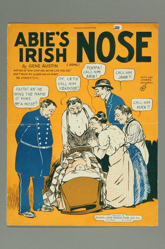 2016.184.185 front Abie's Irish nose / words and music by Gene Austin