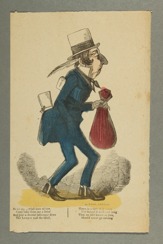 2016.184.189 front Colored caricature of a Jewish lawyer by A. Park