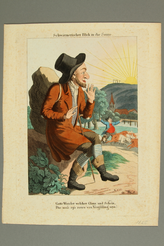 2016.184.193 front Print of a Jewish peddler admiring the sun