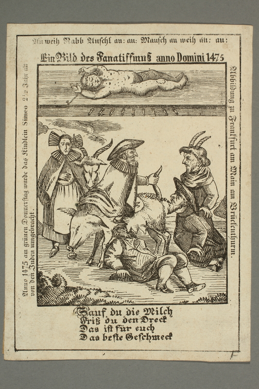 2016.184.205 front 17th century woodcut of the so-called Martyrdom of Simon of Trent