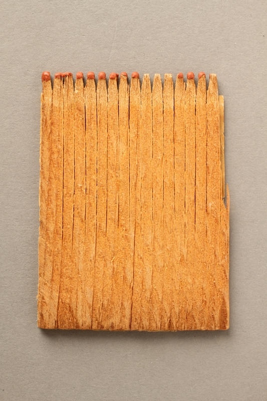 2016.184.214 back Matchbook advertising Pakanoket Park, a camp that excluded Jews