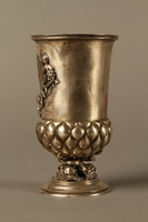 2016.184.215 left side Embossed silver goblet with an inset Korn Jude medal  Click to enlarge