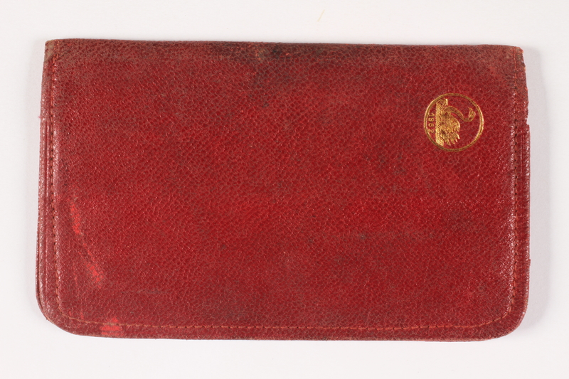 2011.274.2 front Red leather wallet