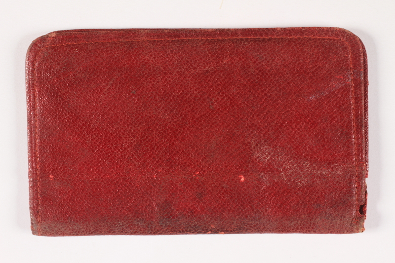 2011.274.2 back Red leather wallet