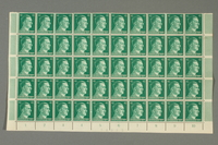 2016.182.1_b front Nazi Germany, 42 pfennig postage stamps, one sheet  Click to enlarge