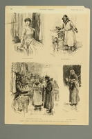 2016.184.223 front Magazine illustration of four Jewish peddlers in NYC  Click to enlarge