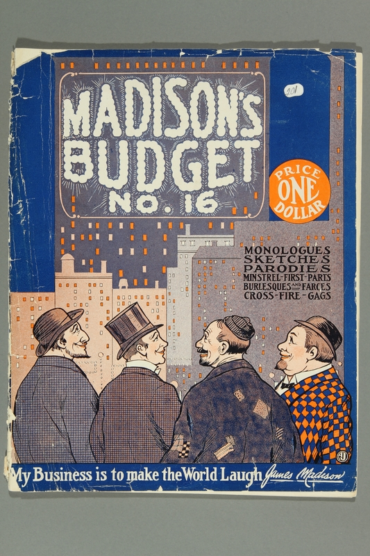 2016.184.229 front Madison's budget; a cyclopedia of comedy material for vaudeville artists, radio stars, masters of ceremony, etc., number 16