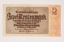 Nazi Germany, 2 Rentenmark note