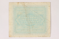 1996.28.32 back Allied Military Authority, 1 lira  Click to enlarge