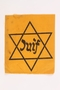 Unused Star of David badge with Juif acquired by a Jewish chaplain, US Army