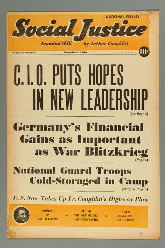 2016.184.233.11 front Social justice, December 2, 1940, Vol. 6, no. 23