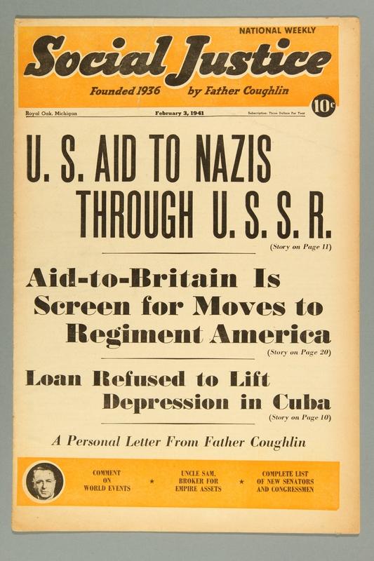 2016.184.233.17 front Social justice, February 3, 1941, Vol. 7, no. 5