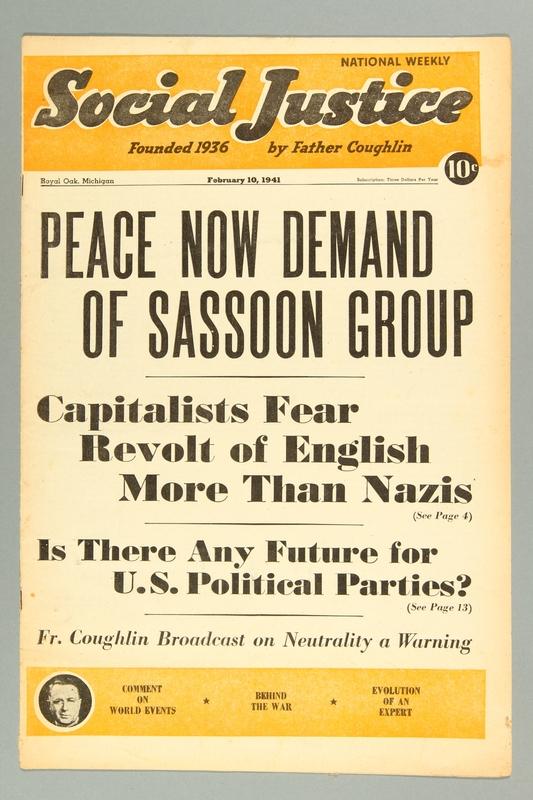 2016.184.233.18 front Social justice, February 10, 1941, Vol. 7, no. 6