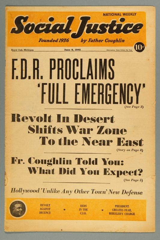 2016.184.233.21 front Social justice, June 9, 1941, Vol. 7, no. 23