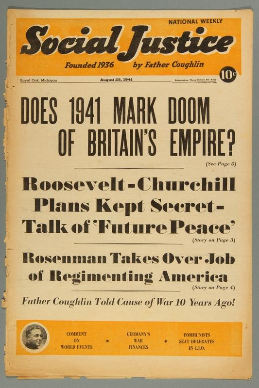 2016.184.233.28 front Social justice, August 25, 1941, Vol. 8, no. 8