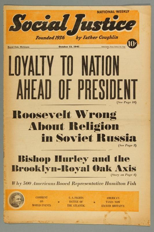 2016.184.233.31 front Social justice, October 13, 1941, Vol. 8, no. 15