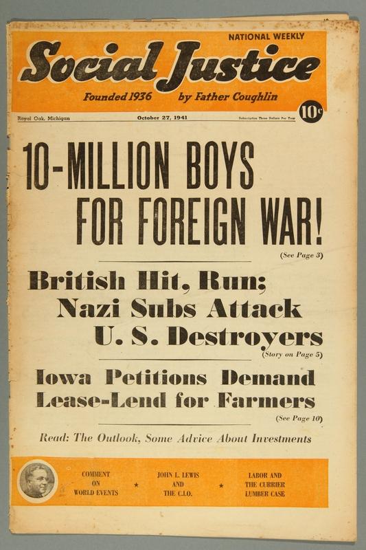 2016.184.233.32 front Social justice, October 27, 1941, Vol. 8, no. 17