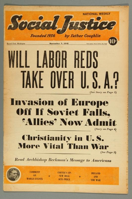 2016.184.233.33 front Social justice, November 3, 1941, Vol. 8, no. 18