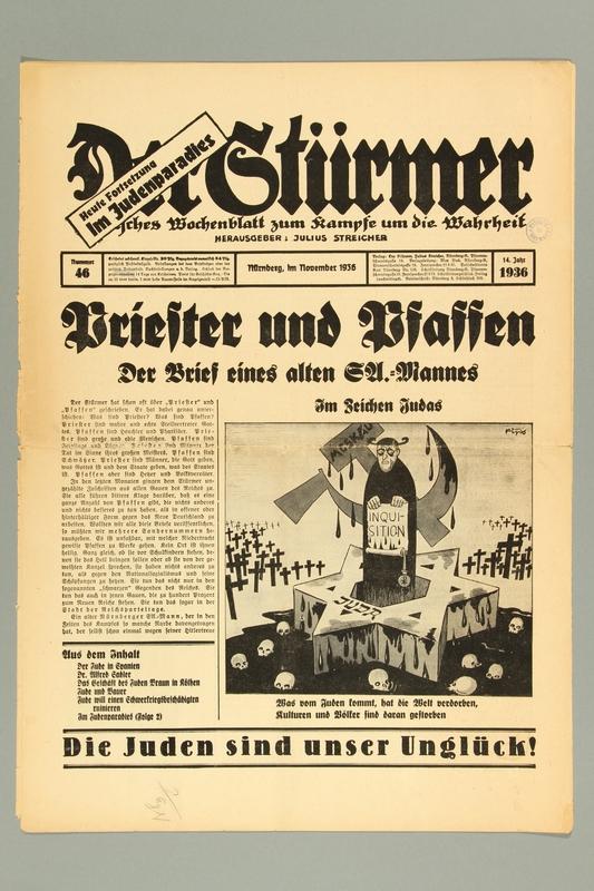 2016.184.236.4 front Der Stürmer, Nummer 46, November 1936, 14. Jahr 1936