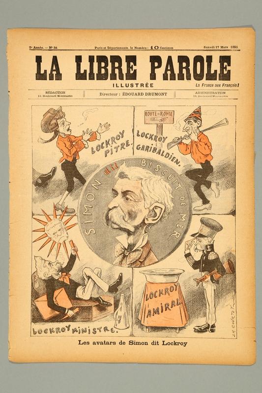 2016.184.237.2 front La Libre Parole, 2nd annee, No. 36, Samedi, March 17, 1894