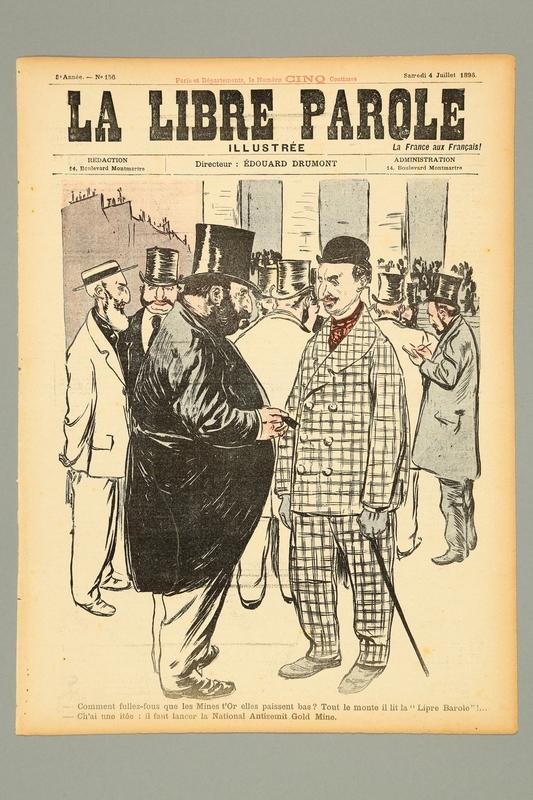 2016.184.237.7 front La Libre Parole, No. 156, Samedi, July 4, 1896