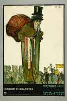 2016.184.244 front London Transport Petticoat Lane poster of a Jewish peddler  Click to enlarge