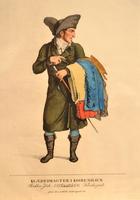Color print of a Jewish clothes peddler in Copenhagen  Click to enlarge