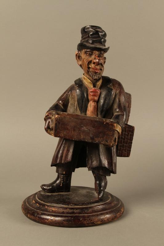 2016.184.255 front Biedermayer hand carved wooden figure of a Jewish Peddler