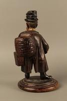 2016.184.255 back Biedermayer hand carved wooden figure of a Jewish Peddler  Click to enlarge