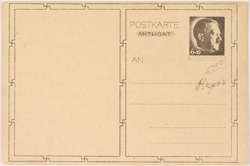 2000.349.5 back Adolf Hitler postcard