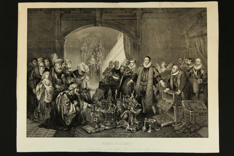 2016.184.303 front Engraving of Prince William I of Holland selling his treasures to Jews