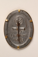2015.558.6 back Badge found by a US soldier  Click to enlarge