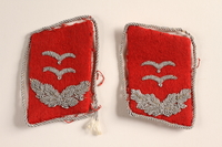 2015.558.9 a-b front Collar tabs found by a US soldier  Click to enlarge