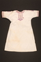 Embroidered nightgown made for a young Austrian Jewish refugee before her emigration