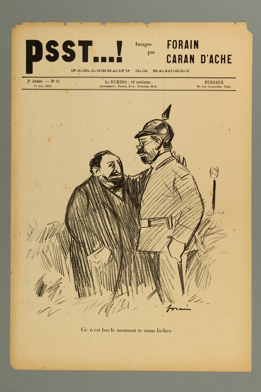 2016.184.312_a front Anti-Dreyfus journal cover about Jews conspiring with the German Army
