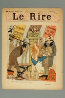 2016.184.315 front Cover of the illustrated humor magazine, Le Rire  Click to enlarge
