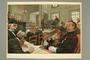 Color illustration of the 2nd Dreyfus court martial trial