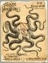 Caricature of Baron Alphonse de Rothschild as an octopus with an eyepatch