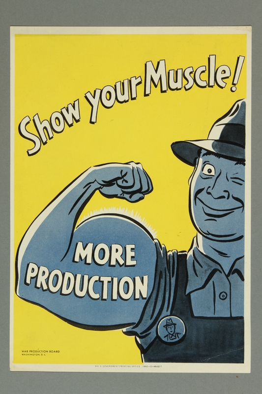 2015.562.2 front Poster of a worker flexing his bicep