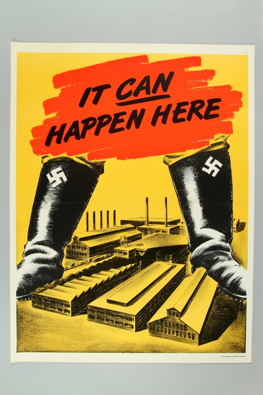 2015.562.10 front US propaganda poster about the Nazi threat
